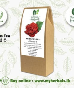 Hibiscus Tea benefits weight loss, hair growth, immunity boost. Greenhope hibiscus tea made of blending Ceylon Green tea with Hibiscus powder.