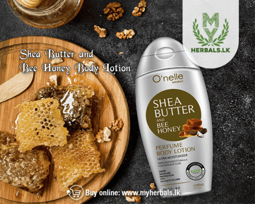 O'NELLE SHEA BUTTER & BEE HONEY PERFUME BODY LOTION-www.myherbals.lk-